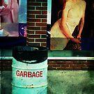garbage and mural by Kate Wilhelm