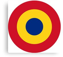 Roundel of the Romanian Air Force Canvas Print