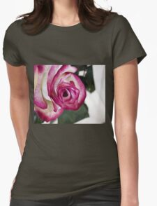 Pink rose 4 Womens Fitted T-Shirt