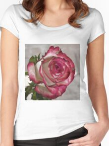 Pink rose 5 Women's Fitted Scoop T-Shirt