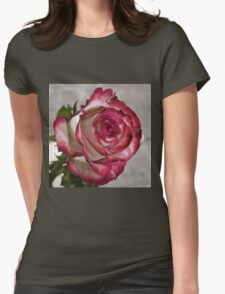 Pink rose 5 Womens Fitted T-Shirt