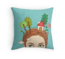 Welcome back Throw Pillow