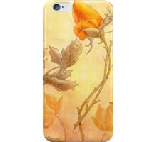Orange rosebuds with leaves iPhone Case/Skin