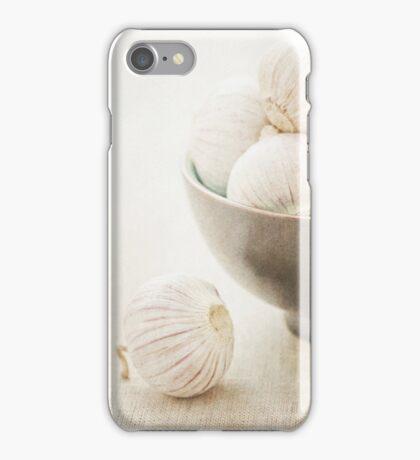 Still life of Garlic in a bowl iPhone Case/Skin