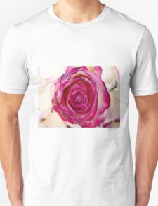 Pink rose with petals Unisex T-Shirt