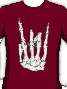 Skeleton hand   White T-Shirt