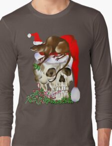 Christmas Skull and Happy Rat T-Shirt