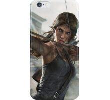 Tomb Raider - Lara Croft, Fire bow iPhone Case/Skin