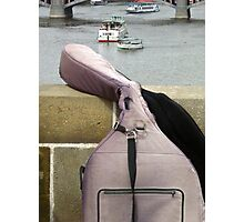 Double bass case (Charles Bridge, Prague) Photographic Print