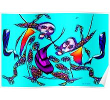 Dancing puppets Poster