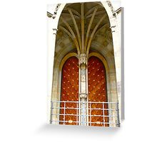 Arched entrance way, St Vitus Cathedral  Greeting Card