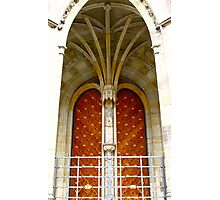 Arched entrance way, St Vitus Cathedral  Photographic Print