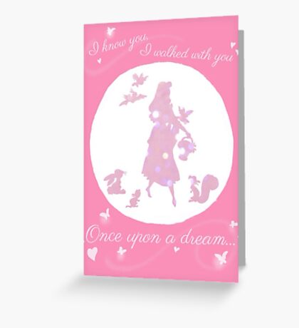Once Upon a Dream (Make it Pink!) Greeting Card