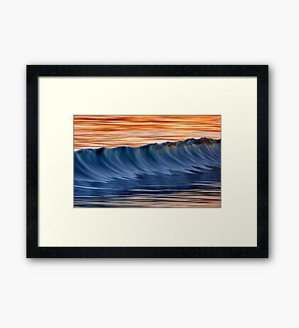 Standing Wave Framed Print