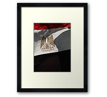 The Eagle of Saladin - the flag of Egypt Framed Print