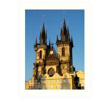 Gothic church spires (Prague) Art Print