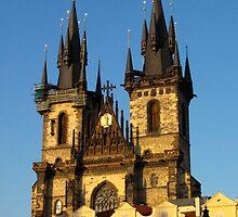 Gothic church spires (Prague) by lightworks