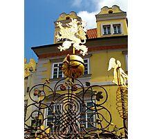 Street furniture mystery (Prague) Photographic Print