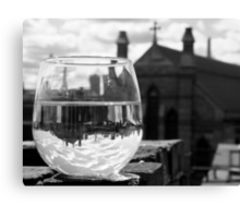 Wineglass in Charlestown Canvas Print