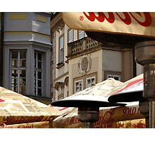 Al Fresco in the Old Town (Prague) Photographic Print