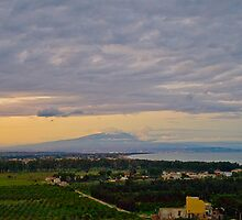 Etna and the gulf of Catania from Agnone by Andrea Rapisarda
