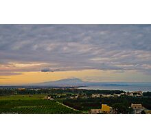 Etna and the gulf of Catania from Agnone Photographic Print