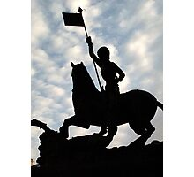 St George slaying the Dragon, Prague Castle Photographic Print