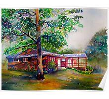 Backyard at Hank's House Poster