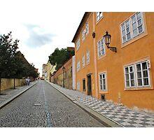 Street, cobbles and paving tiles (Prague) Photographic Print