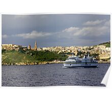Gozo channel ferry Poster
