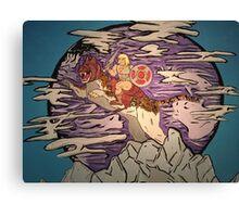 E MAN and BATTLE CALICO  Canvas Print