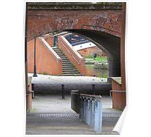 footway, waterway, railway (Manchester) Poster