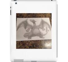 Pencil sketch of charizard  iPad Case/Skin