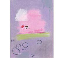 Cherry Blossoms cottage. Photographic Print