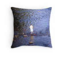 fishing Lehigh River Throw Pillow