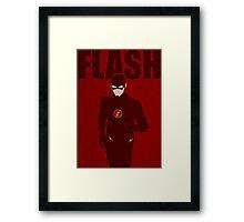 The Flash Minimalist Poster - CW Framed Print
