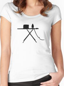 Ironing board Women's Fitted Scoop T-Shirt