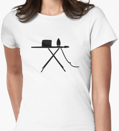 Ironing board Womens Fitted T-Shirt