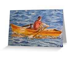 Rowing  Greeting Card