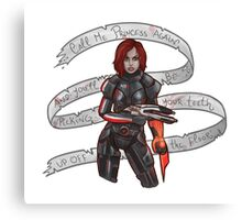 Commander Shepard Canvas Print