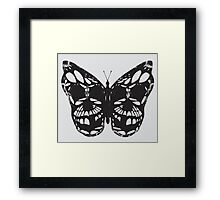 The Skulled Butterfly Framed Print