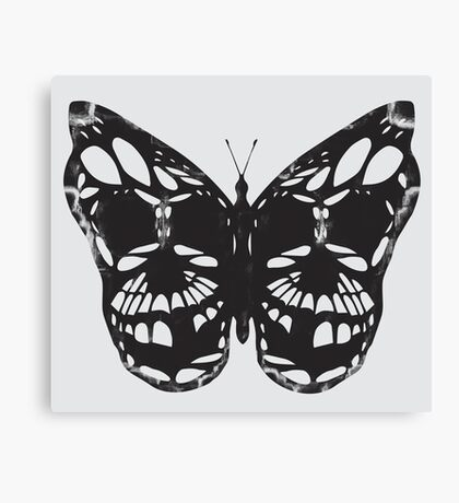 The Skulled Butterfly Canvas Print