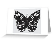 The Skulled Butterfly Greeting Card