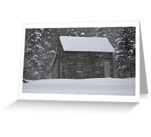 Old Cabin in Snowstorm, Mount Desert, ME Greeting Card