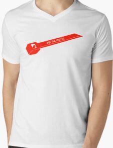 Zip Tie Mafia Mens V-Neck T-Shirt