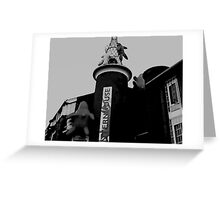 Black and white Inflatable creatures Greeting Card