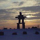 Inukshuk.... Inuit Culture..... by Larry Llewellyn