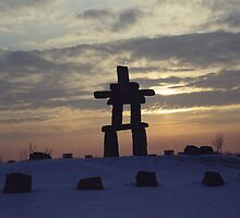 Inukshuk.... Inuit Culture..... by Larry Llewellyn