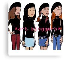 Art Bloggers Canvas Print