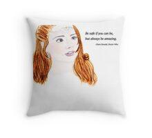 Clara Oswald and Robin Hood Throw Pillow